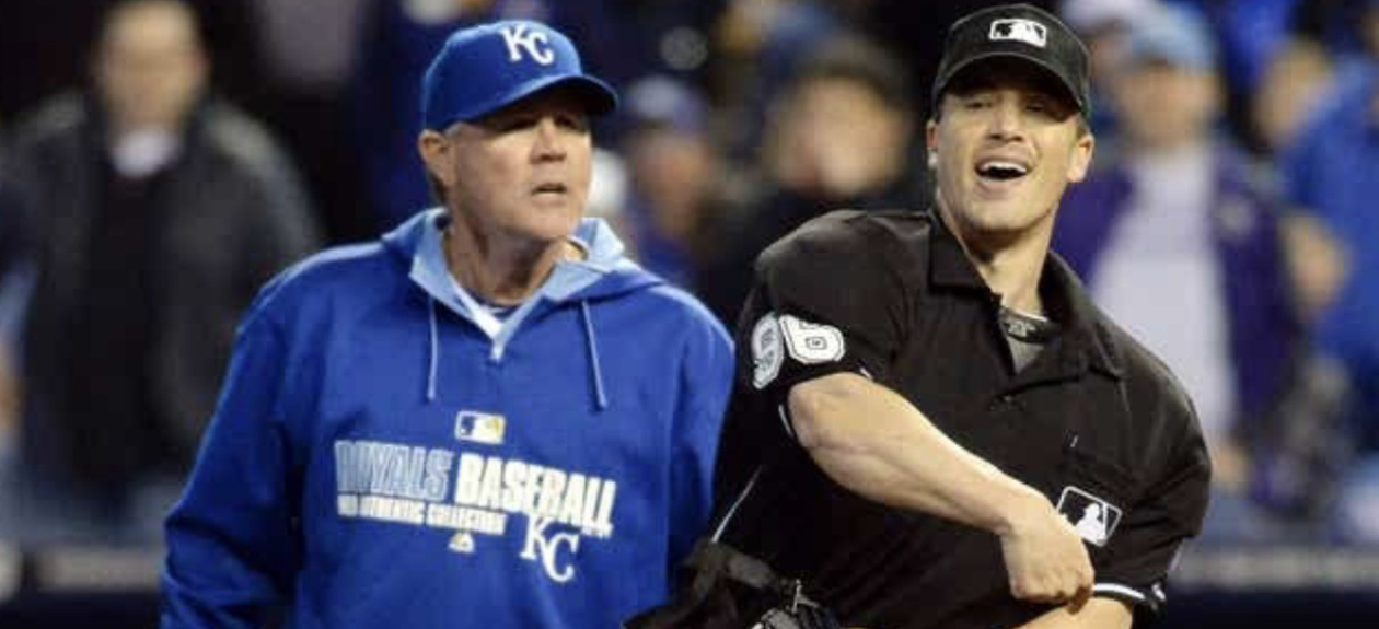 Chris Segal ejecting former Kansas City Royals Manager Ned Yost