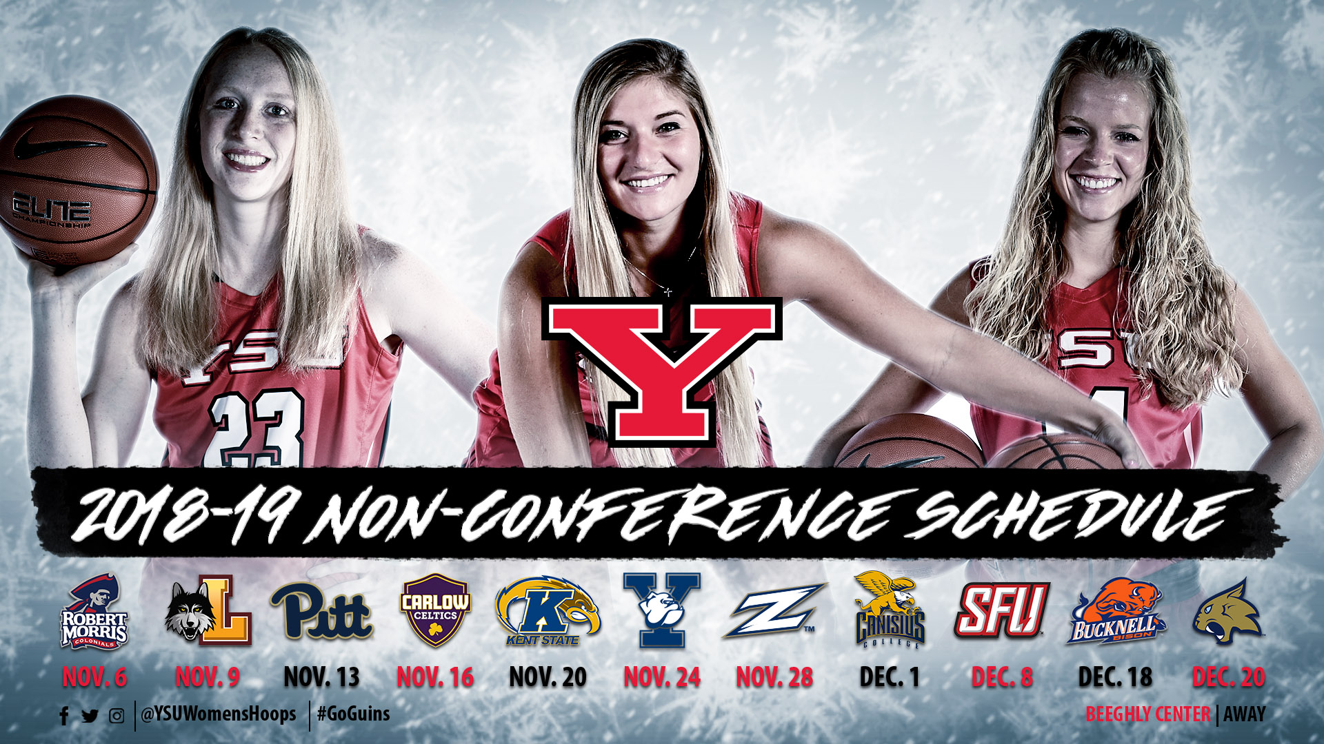 2018-19 YSU Women's Basketball Non-Conference Schedule
