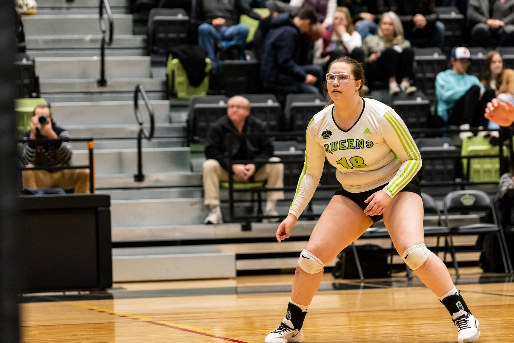 Setter Emma Letkeman (18) had a game high 27 assists