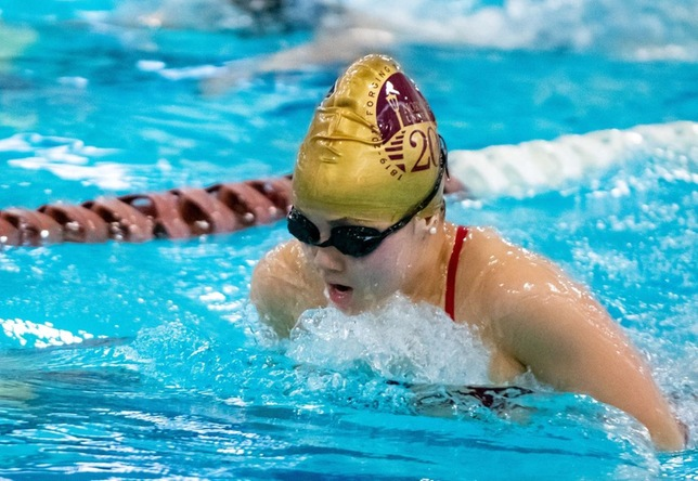 Swimming & Diving: Norwich and Keene State Split Dual Meet