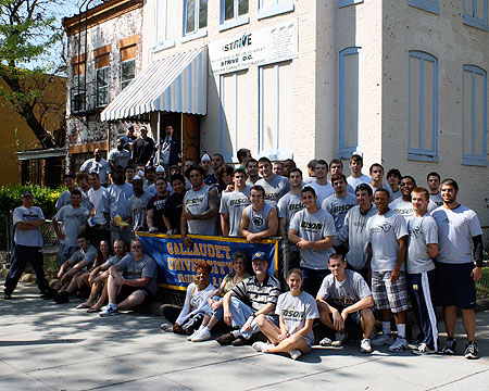 GU Athletics makes great strides with community service day at STRIVE DC