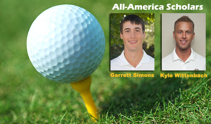Wittenbach, Simons Tabbed As All-America Golf Scholars