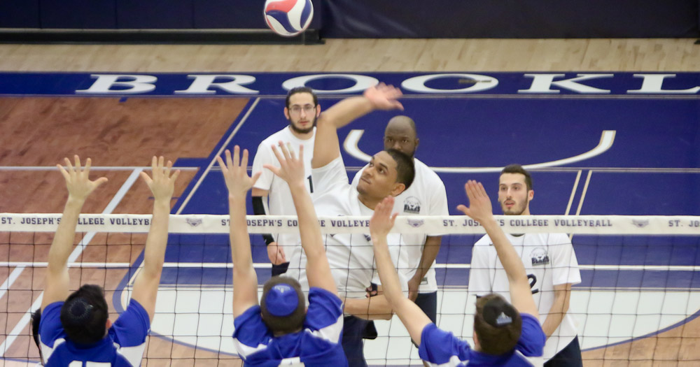 Men's Volleyball Edged Out by Yeshiva in Five-Set Thriller