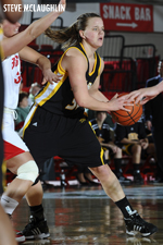Erin Brown scored 16 points in the second half against Albany.