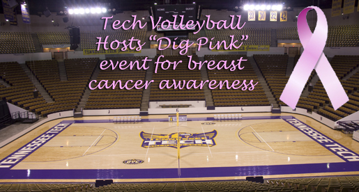 "Tennessee Tech volleyball hosts ""Dig Pink"" event for breast cancer awareness"