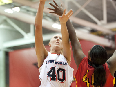 Lady Cardinals Fall 44-36 to Lake Erie - Saginaw Valley State