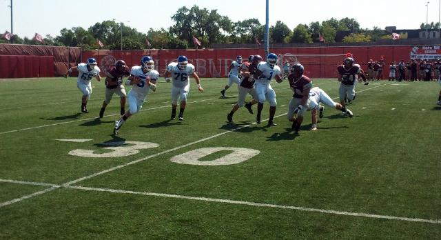 Augsburg runs to victory over Football in season opener