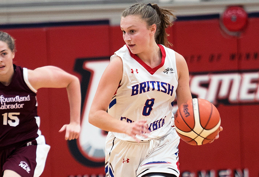 Kelowna point guard Rachel Hare brings four years of experience with the B.C. provincial basketball program (Kevin Bogetti-Smith photo).