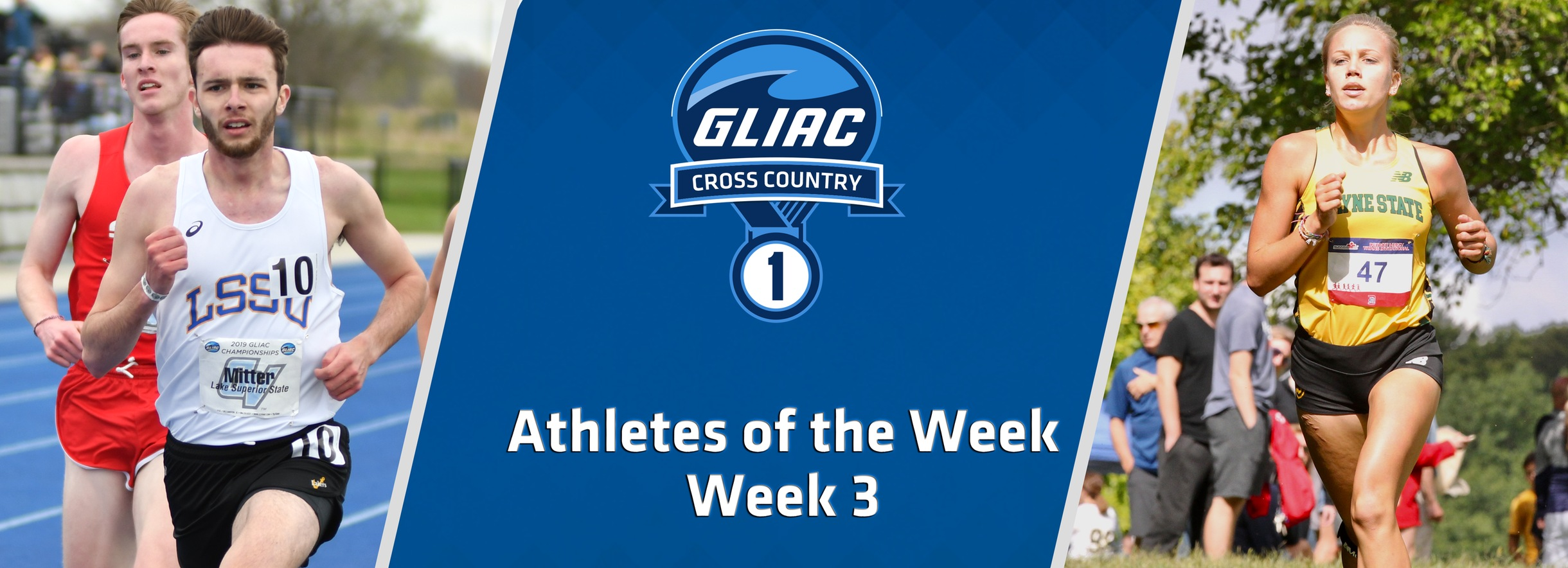 WSU's Defrain and LSSU's Mitter Earn GLIAC Cross Country Athlete of the Week Accolades
