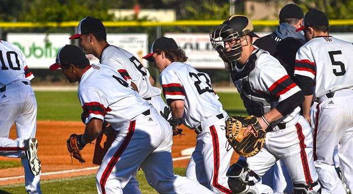 The Eagles take the field to start the 2016 season Jan. 29. (Photo by Tom Hagerty, Polk State.)