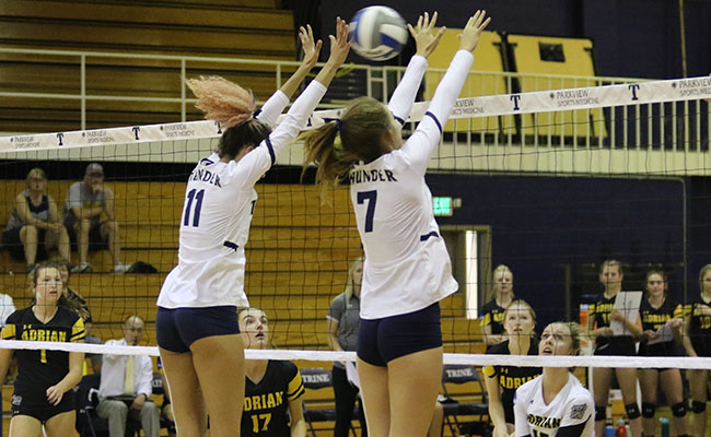Women's Volleyball Takes Five-Set Thriller