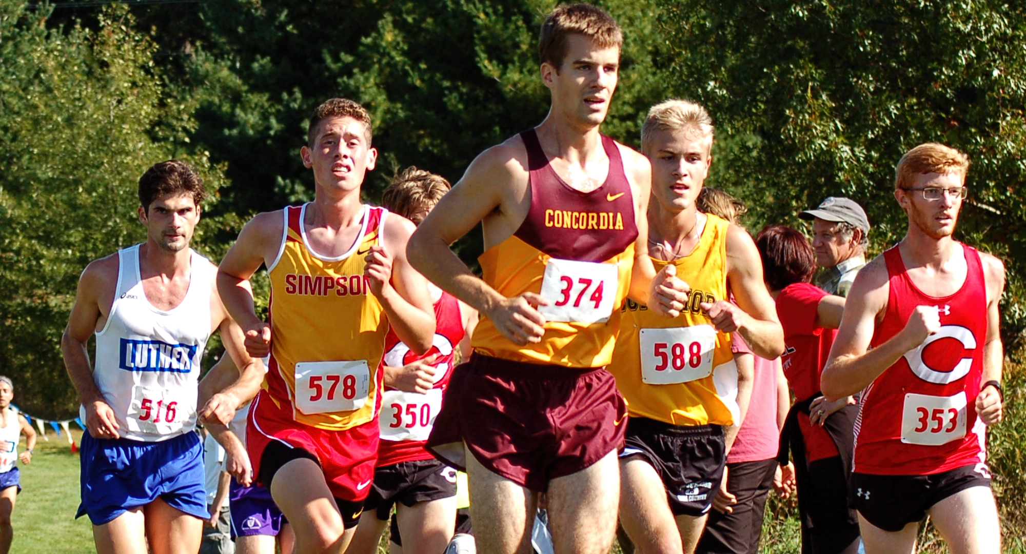 Senior Matthew Lillehaugen led the Cobbers at the NCAA Central Region Meet. Lillehaugen improved on his time and place from last year's regional meet.