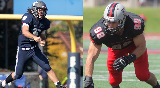 UAA Announces Football All-Association Team; Rob Cuda of CWRU and Brian Khoury of Carnegie Melllon Earn Top Honors