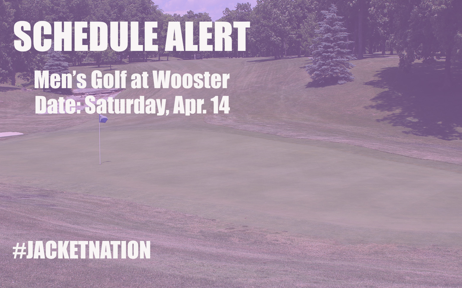 Inclement Weather Forces Change to Men's Golf Schedule
