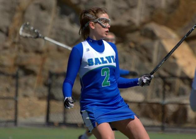 Karley Malenczak scored five goals and assisted on two others in Salve Regina's first conference win of 2014.