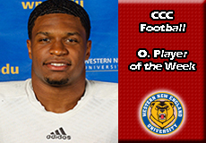 Dante-Western New England, CCC Football: Offensive Player of the Week