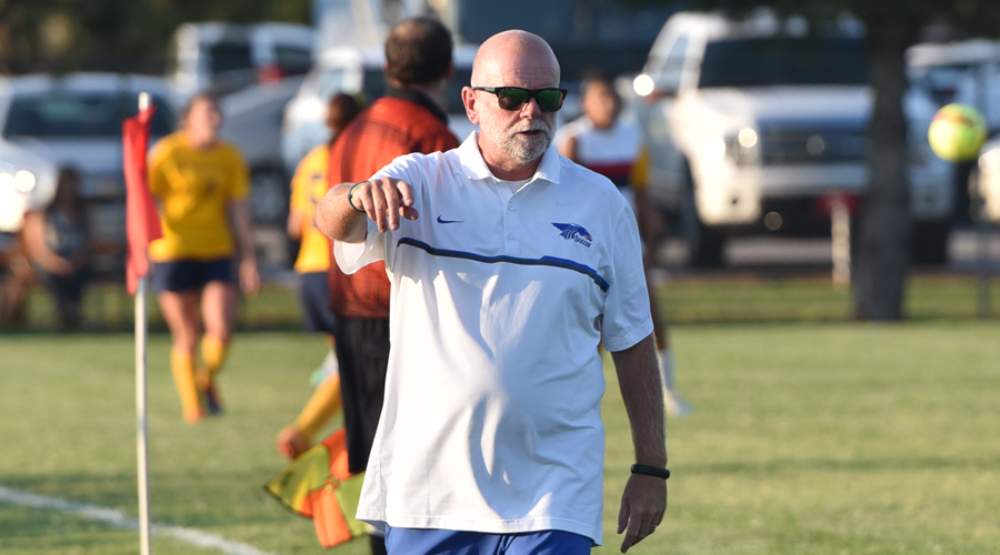 Blue Dragon women's soccer head coach Sammy Lane collected his 200th all-time win on Saturday in a 2-0 victory over Pratt.