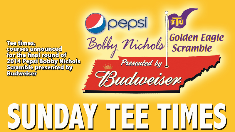 Tee times and courses for Sunday play in Bobby Nichols Scramble