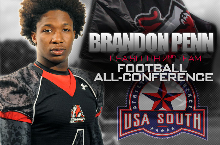 Football: Brandon Penn selected to USA South All-Conference second team