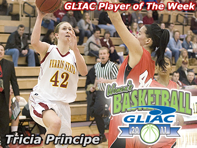 Tricia Principe Claims GLIAC Weekly Honor