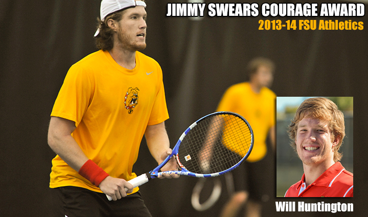 Men's Tennis Senior Will Huntington Honored As Ferris State Athletics' Jimmy Swears Courage Award Recipient