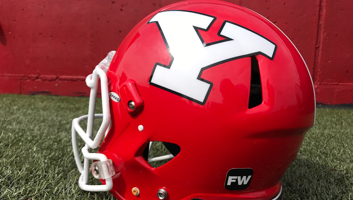 "YSU will wear ""FW"" on its helmets during the 2017 season in honor of Frank Watson."