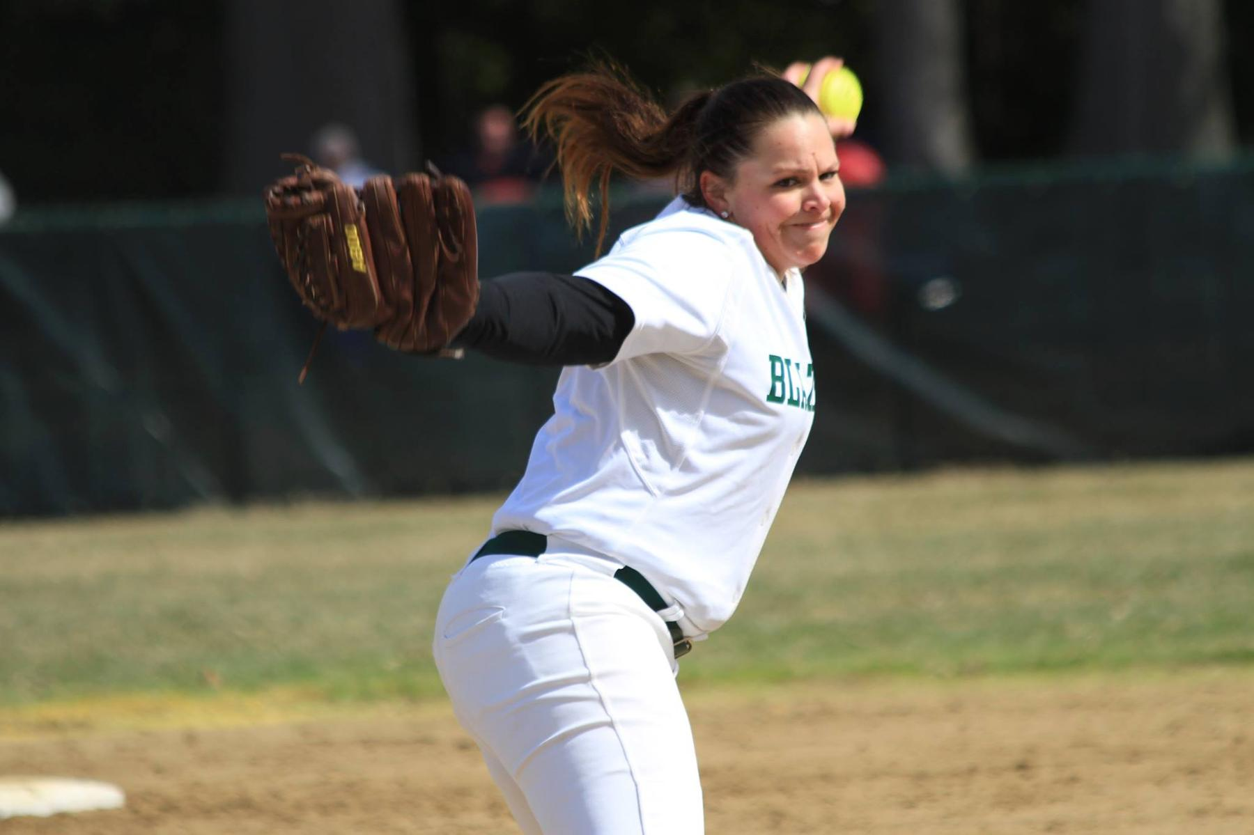 Softball Splits Conference Twinbill With Regis