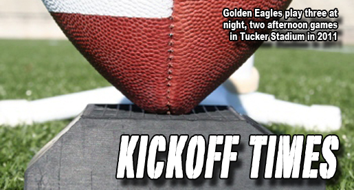 Starting times announced for Golden Eagles home football games