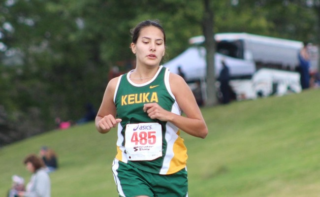 Tiffany Connors finished in 17th place for Keuka College