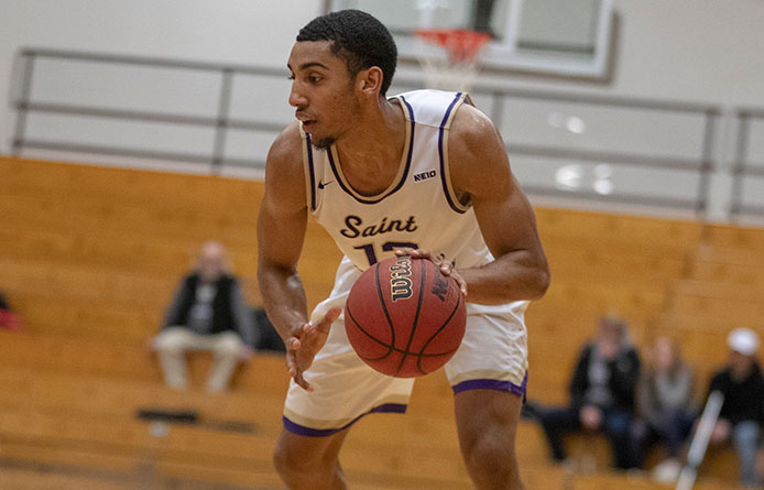 Men's Basketball Drops 77-68 Decision at Regionally-Regarded Pace