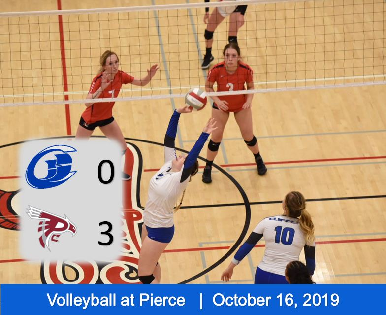 Volleyball Falls to Top Ranked Pierce