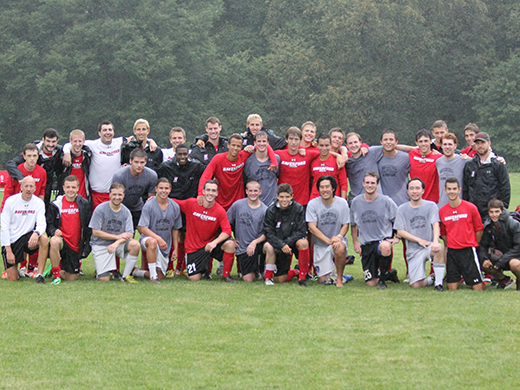 Men's Soccer Welcomes Back Alumni
