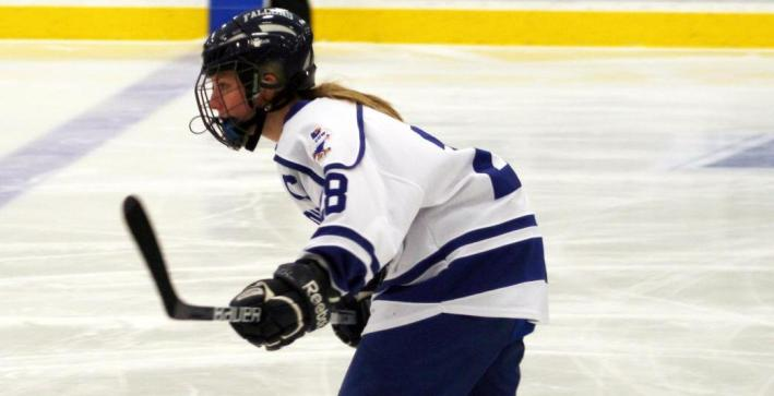 Cole scores power-play goal to give Women's Hockey sweep over Marian