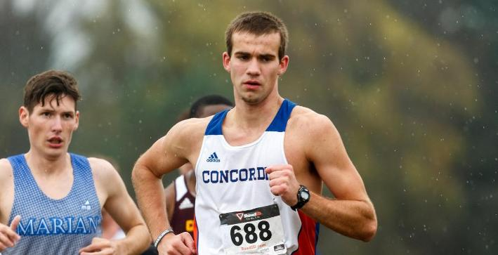 Men's Cross Country with six PRs at Midwest Regionals