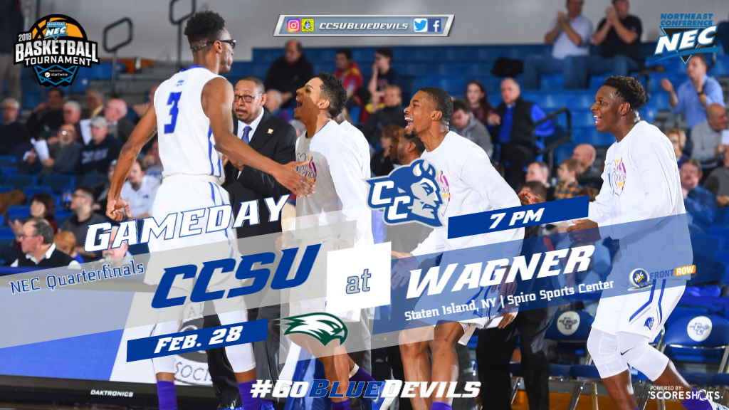 Men's Basketball Travels to Wagner for NEC Tournament Quarterfinals
