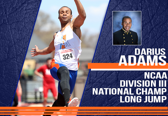 ADAMS WINS NATIONAL CHAMPIONSHIP IN LONG JUMP