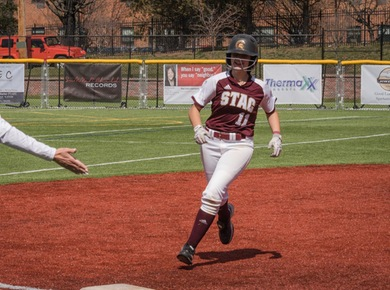 Spartans Sweep Knights in Home Softball Doubleheader