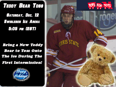 Teddy Bear Toss To Be Held During This Saturday's Bulldog Hockey Game