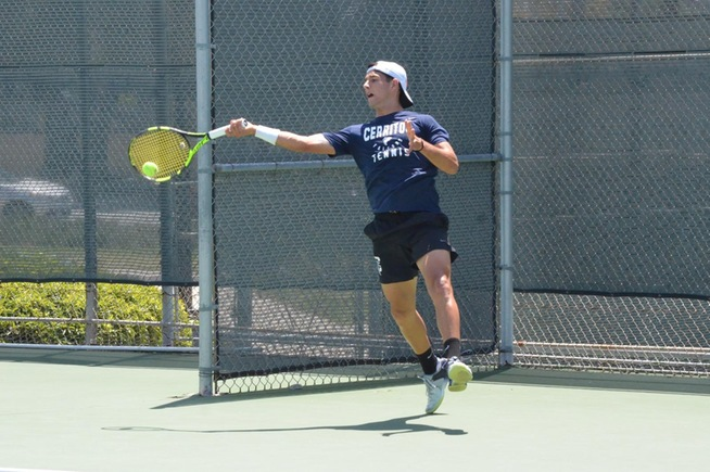 Cerritos men's tennis advances five of six singles players at State Championship