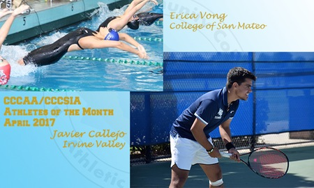 Tennis player Javier Callejo named CCCAA athlete of the month