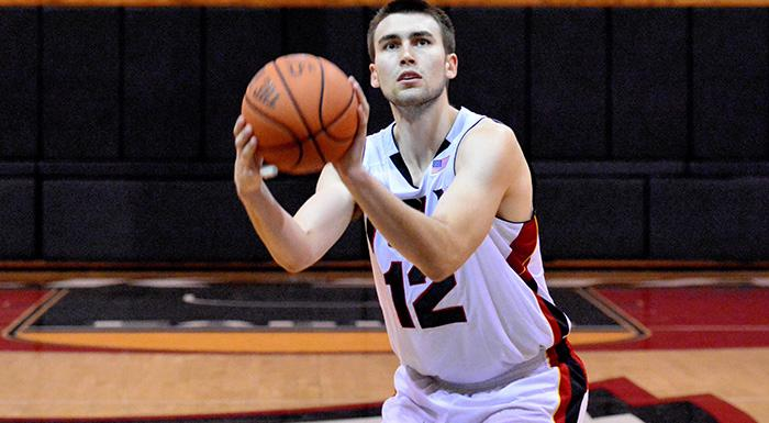 Djuro Pantos scored 14 points as the Eagles won their fourth straight game. (Photo by Tom Hagerty, Polk State.)