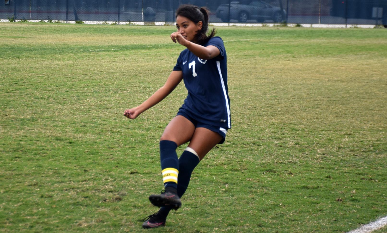 Women's soccer puts up five goals in rout at Norco