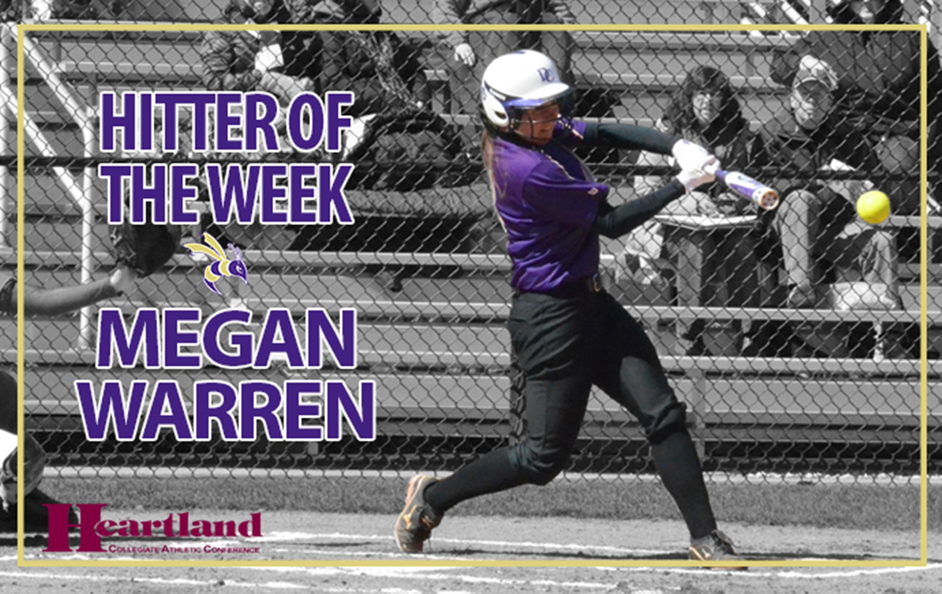 Warren Named HCAC Hitter of the Week