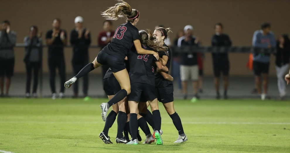 No. 12 Women's Soccer Wins Thriller Over No. 2 North Carolina