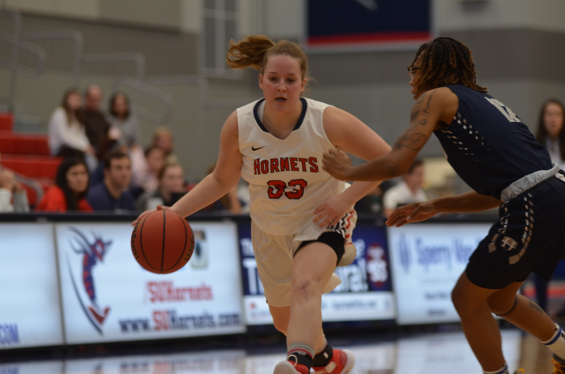 Shannon Kuhn went 4-8 from the floor and perfect from the line for 10 points in the 18-19 opener for SU.