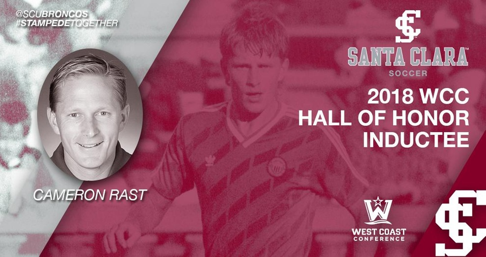 Men's Soccer Head Coach Cameron Rast to Enter WCC Hall of Honor