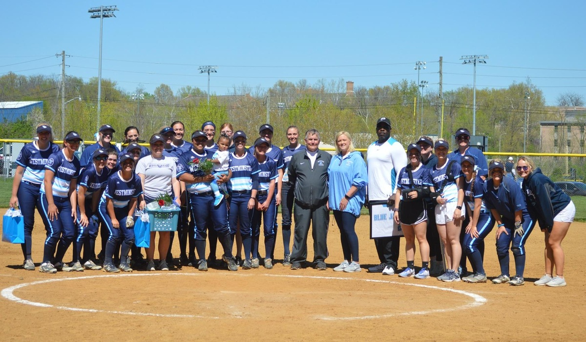 Westminster Softball Splits with Eureka on Senior Day