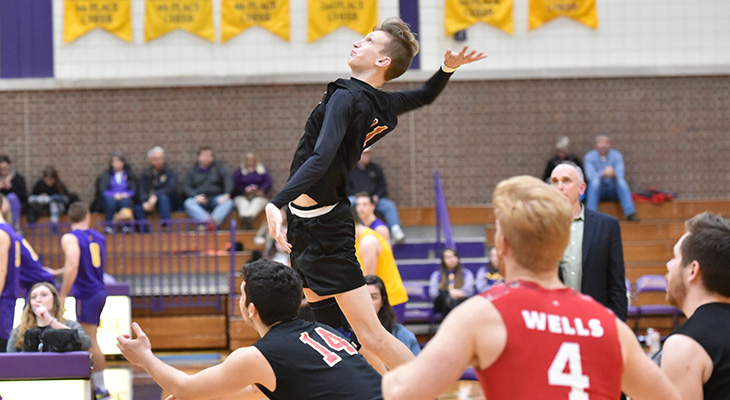 Men's Volleyball Attack Overpowers Regis College