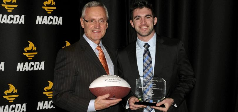 Jim Tressel '75 and Tyler Moeglin