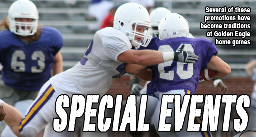 Special events announced for Golden Eagle home football games in 2011